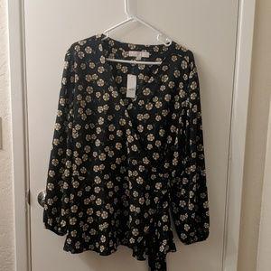 NWT Loft wrap blouse